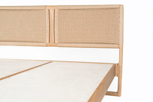 Rian Bed, White Oak