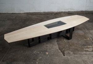 Whitaker Coffee Table, Hardwood and Steel, Custom Branding