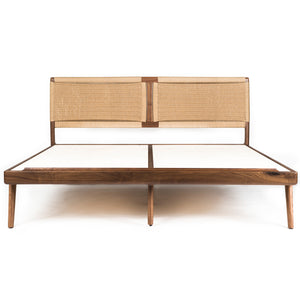 Rian Bed Walnut with Kraft Danish Cord