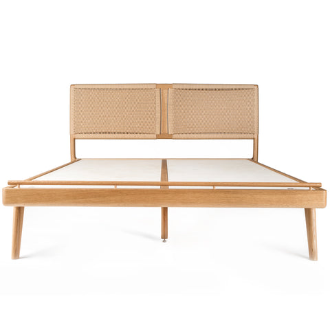 Rian Bed White Oak with Kraft Danish Cord
