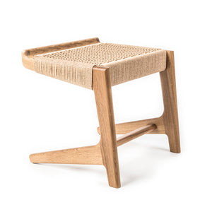 Rian Cantilever Stool, White Oak