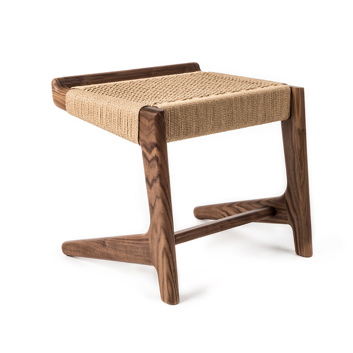 Rian Cantilever Stool Walnut Kraft Danish Cord