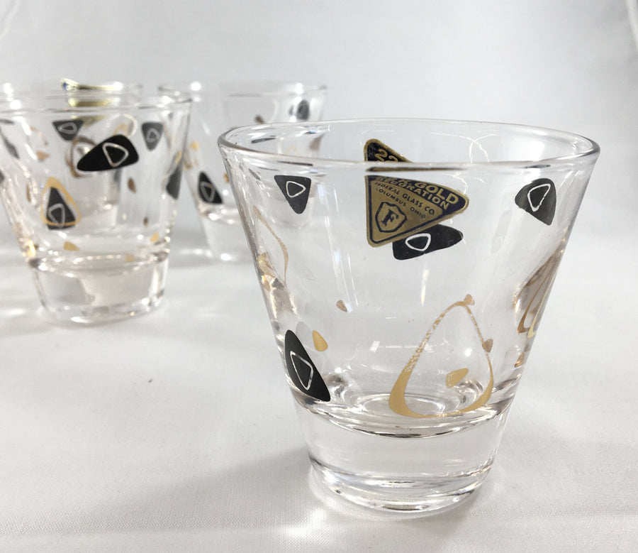 Mid Century Modern Boomerang Shot Glasses - The Mart Collective Venice CA