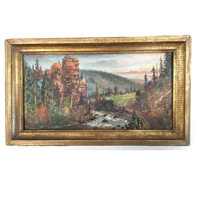 Antique Landscape by Listed Artist Harry Learned