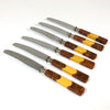 Vintage Rostrei Solingen German Bakelite Handled Knives - Set 6