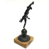 Antique 1891 Bronze Sculpture Mercury