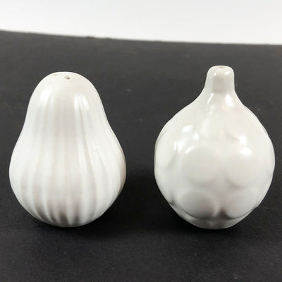 Early Jonathan Adler White Ceramic Salt & Pepper Shakers