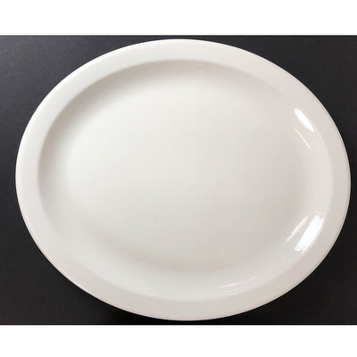 "Homer Laughlin 13.5"" White Platter - 2 Available"