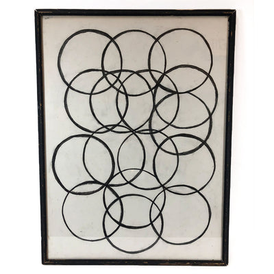 Framed Artwork Sketched Circles