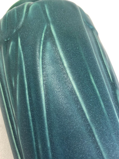 Rare 1914 Rookwood Tall Blue Green Matte Tulips Vase Arts Crafts Pottery