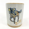 Louisville Stoneware Kentucky Derby Cup with Horse & Jockey