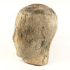 Antique Carved Wood Millinery Head Form