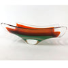 Orange & Teal Cased Art Glass Napkin Holder