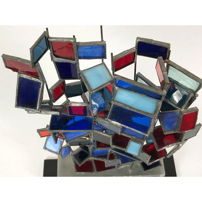 1973 Modern Art Glass Sculpture