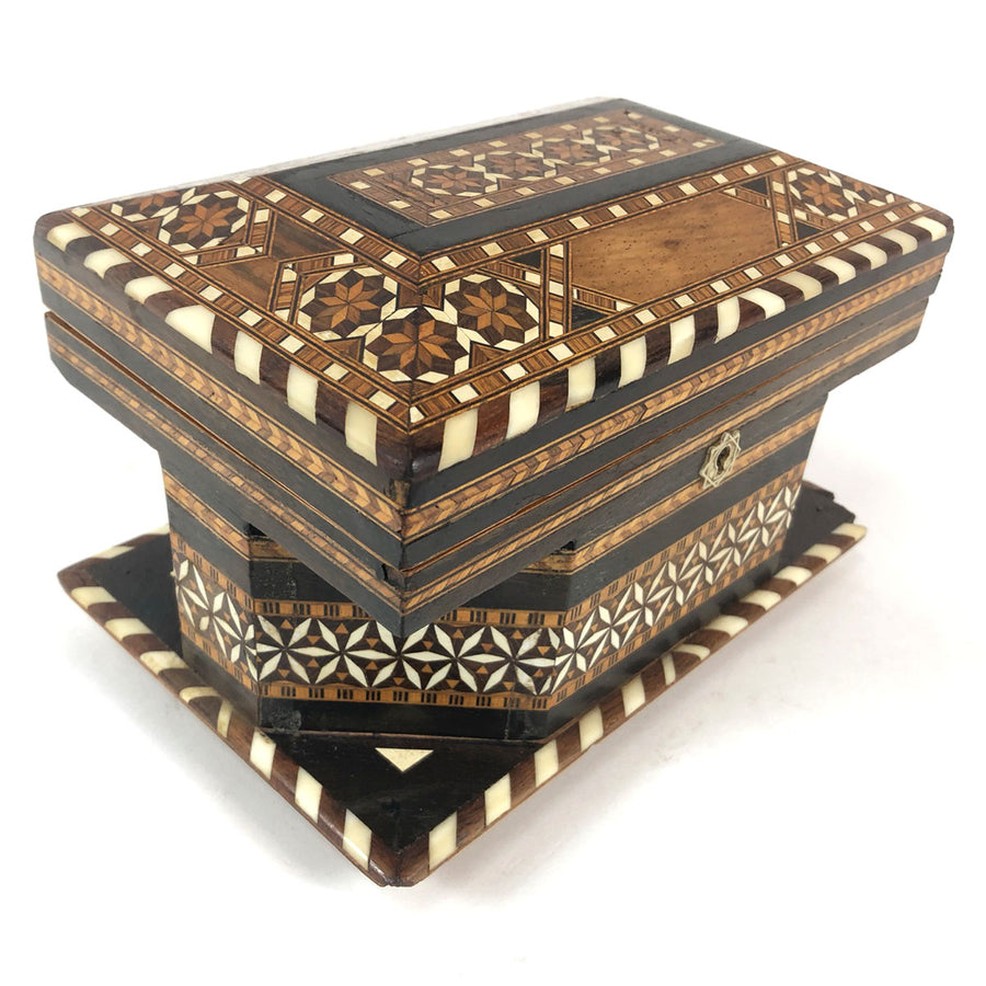 Moroccan Inlaid Wood Jewel Box