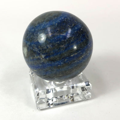Lapis Lazuli Polished Sphere on Stand