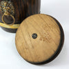 Vintage Wood Barrel Ice Bucket With Lion's Head Handles