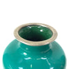 Enameled Green Vase
