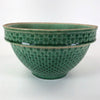 Antique McCoy Green Honeycomb Bowl
