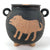 Mid-Century Art Pottery Lidded Jar with Animal Art