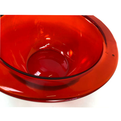 Bright Red Art Glass Bowl