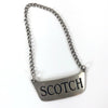 "Vintage Sterling ""Scotch"" Bottle Tag"