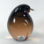 Murano Smoke Glass Bird Signed Pino Signoretti