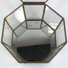 Octagonal Brass & Glass Display Box