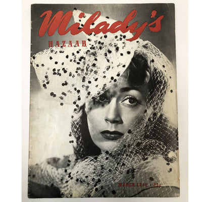Vintage Milady's Bazaar Magazine Issue March 1942