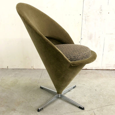 1960s Verner Panton Cone Chair with Original Mohair Fabric