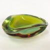 Vintage Lime Green Art Glass Dish