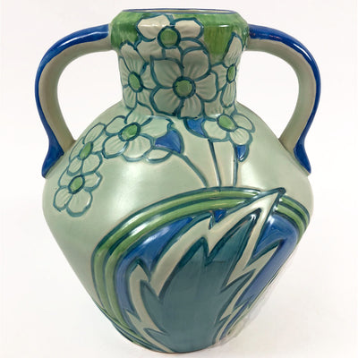 1930s Phoenix Blue & Green Floral Classic Jug by T.F.& S Ltd.