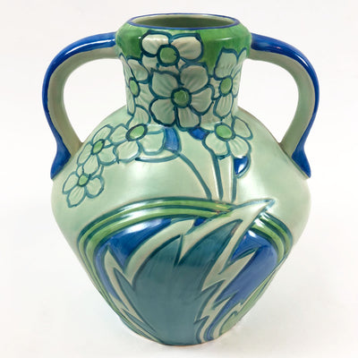 1930s Phoenix Blue & Green Floral Classic Jug by Thomas Forester & Sons #1