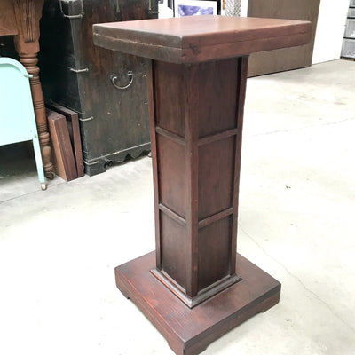 Antique Pedestal Stand - Arts and Crafts Style