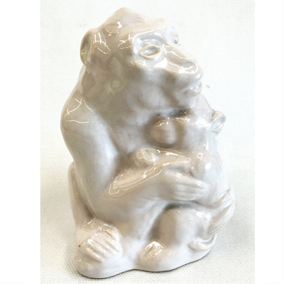 Porcelain Monkey Sculpture - Denmark 1940s