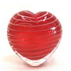 Red Art Glass Heart Vase