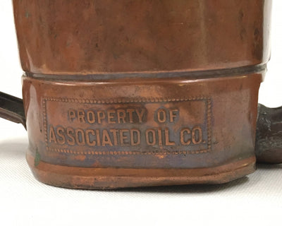 Swingspout Copper Oil Can Vintage - Associated Oil Co.