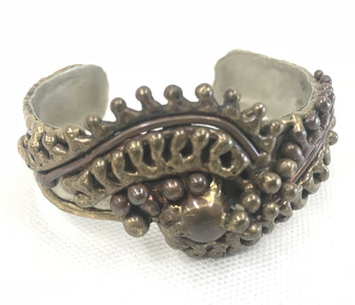 Brutalist Mexican Handmade Sterling Cuff