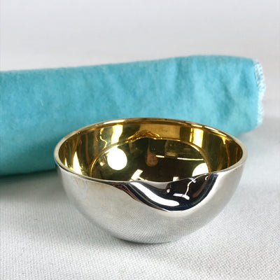 Tiffany Sterling Silver Elsa Peretti Thumb Bowl with Gold Interior