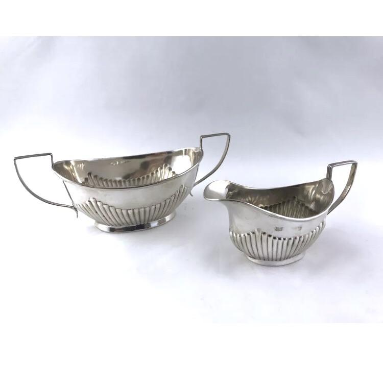 English Sterling Creamer & Sugar Bowl - Early 1900's