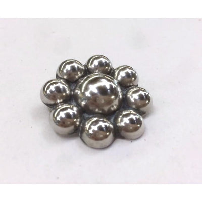 Modernist Silver Ball Brooch - Vintage Mexican Sterling