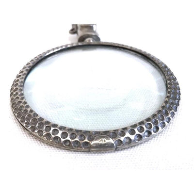 "Sterling Silver Rim ""Golf Bag"" Magnifying Glass - Vintage"