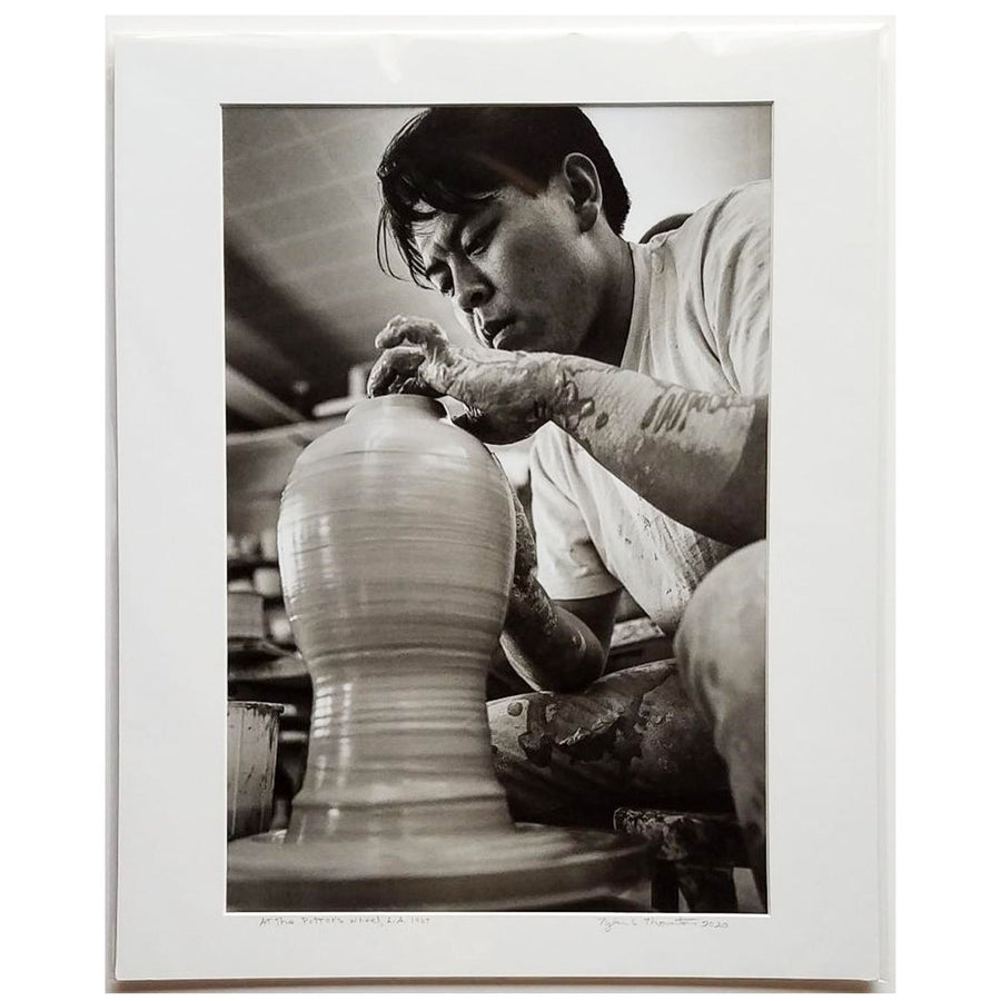 "Tyler Thornton ""At the Potter's Wheel"" LA, 1964- Original Photograph"