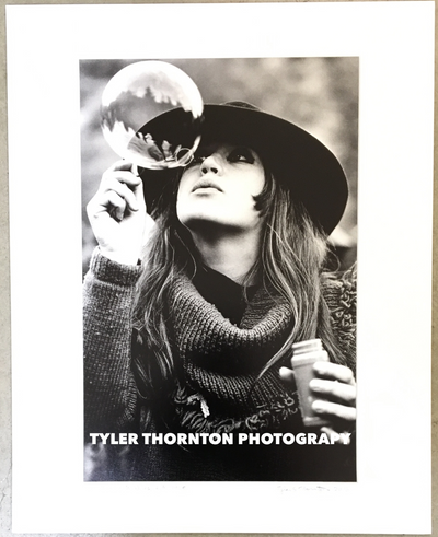 Tyler Thornton Blowing Bubbles 1968 Original Photograph The Mart Collective Venice LA CA