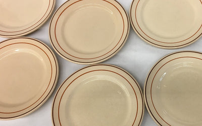 Wallace China Dinner Plates - Desert Ware s/8