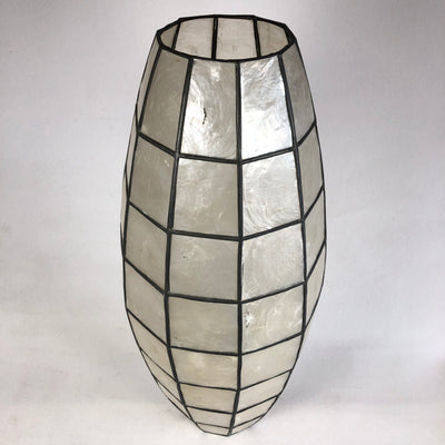 "1960s Oblong 18"" Capiz Shell Lamp Shade"