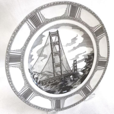 "222 Fifth ""Golden Gate"" Illustrated Decorative Dinner Plate San Francisco"