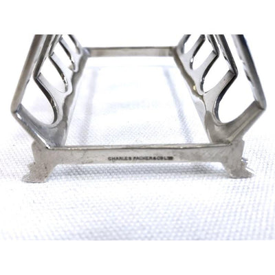 English Sterling Silver Toast Rack 1930s - Charles Packer