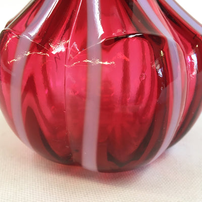Victorian Cranberry Glass Barber Bottle