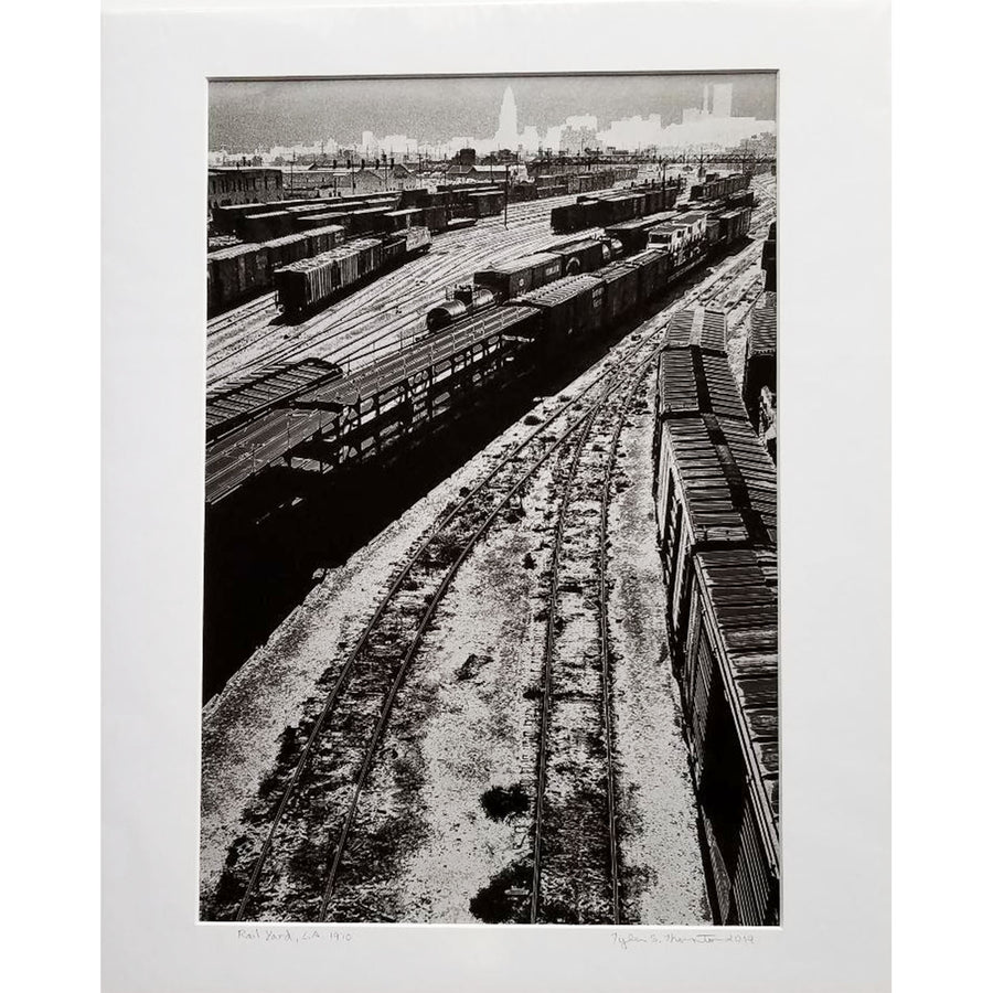 "Tyler Thornton ""Rail Yard"" L.A. 1970 - Original Photograph"